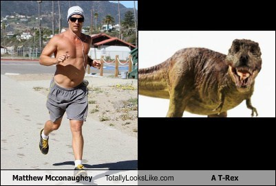 Matthew Mcconaughey Totally Looks Like A T-Rex