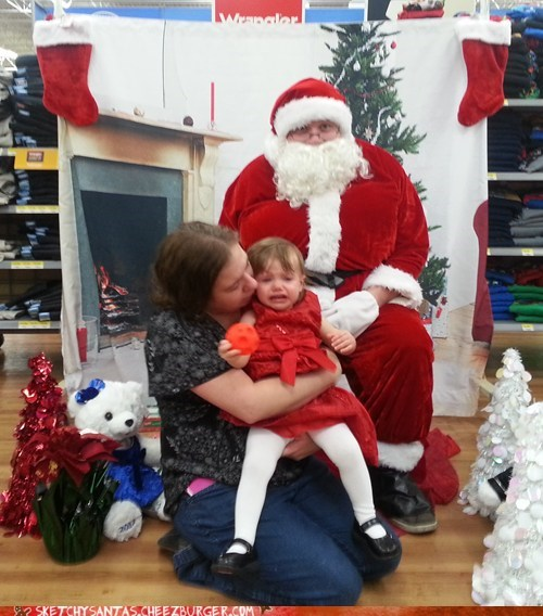 Wal-Mart Santa Hangs Out in the Pants Department