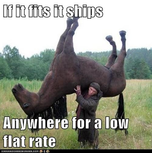 If it fits it ships  Anywhere for a low flat rate
