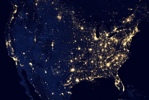 This is What the United States Looks Like at Nighttime