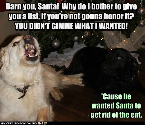I tried to tell ya Marley, Santa's not a hit man.