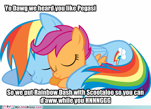 Oh, Look a Rainbow Dash and Scootaloo Picture