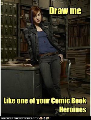 claudia donovan,allison scagliotti,heroines,draw me,comic book
