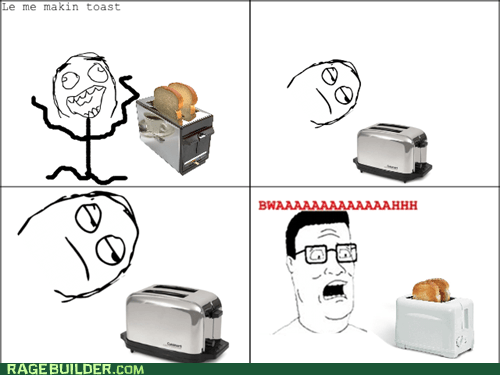hank hill,toast,startled,toaster