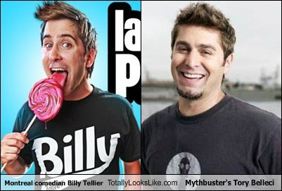 Montreal Comedian Billy Tellier Totally Looks Like Mythbuster's Tory Belleci