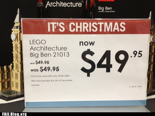 Christmas Savings FAIL