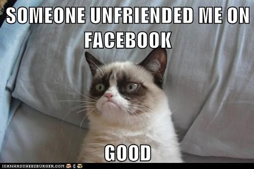 SOMEONE UNFRIENDED ME ON FACEBOOK  GOOD