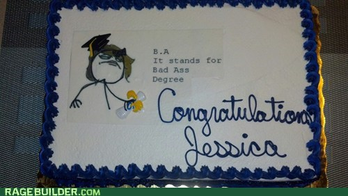 cake,Badass,graduation,celebration,bachelors degree