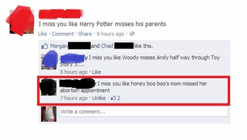 abortion,Harry Potter,parenting,honey boo-boo