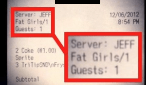 "Restaurant Gives Customers a 50 Percent Discount After Calling Them ""Fat Girls"" on Their Receipt"