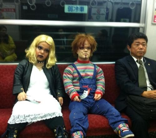 costume,commute,Movie,Chucky,Subway