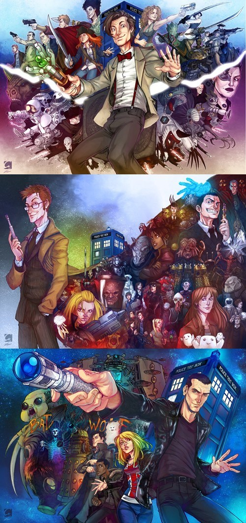 scifi,10th doctor,fan art,11th Doctor,doctor who,bbc,9th doctor