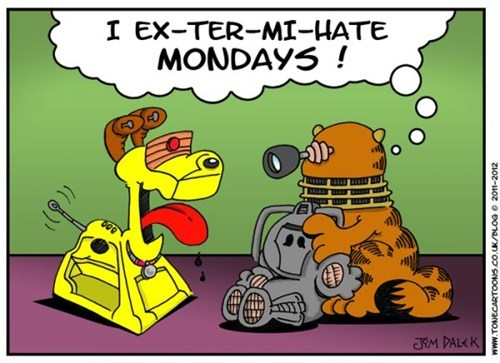 Webcomic,Exterminate,garfield,daleks,doctor who,odie,monday thru friday,g rated