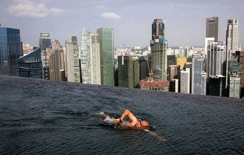 Swimming On the Rooftops in Singapore