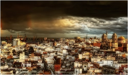 A Storm Over Cadiz, Spain