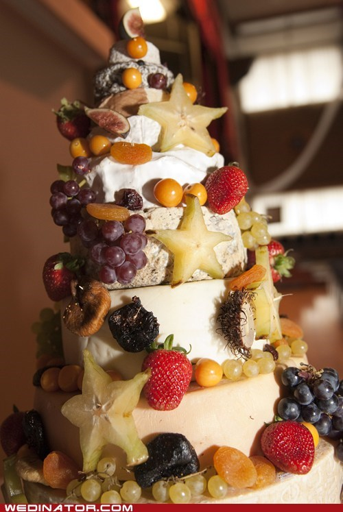 It is Our Cheese Wedding Cake