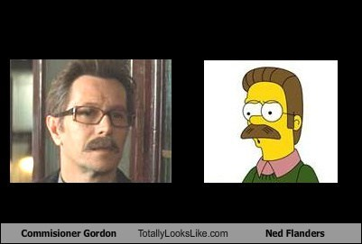 Commisioner Gordon Totally Looks Like Ned Flanders
