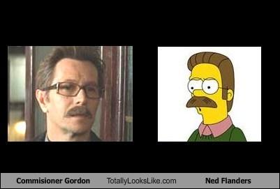 Commisioner Gordon Totally Looks Like Ned Flanders