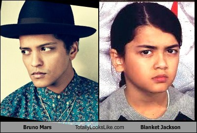 Bruno Mars Totally Looks Like Blanket Jackson