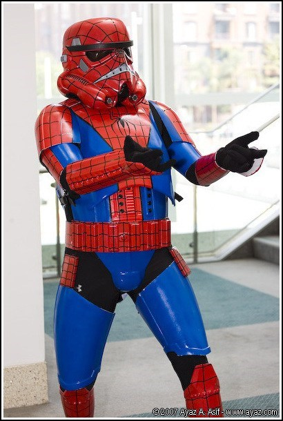 crossover,cosplay,Spider-Man,star wars,stormtrooper