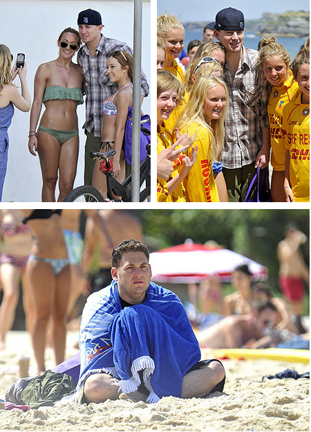 Channing Tatum and Jonah Hill at Bondi Beach