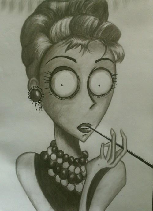 Audrey Hepburn Burtonized