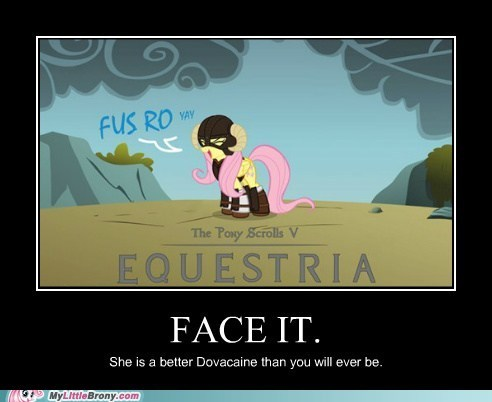 Fluttershy is best dragonborn.