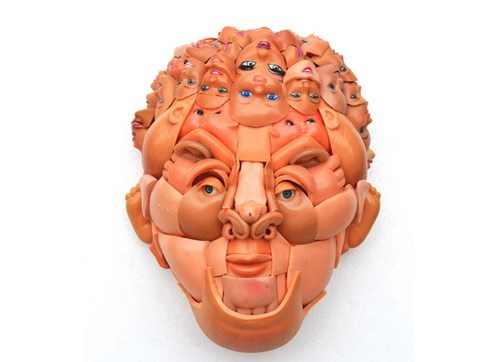 Face Made of Doll Parts