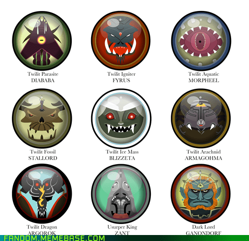 Twilight Princess Boss Buttons