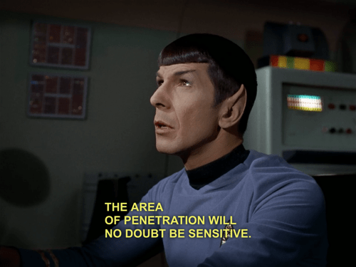 logical,sensitive,innuendo,penetration,Spock,Leonard Nimoy,Star Trek
