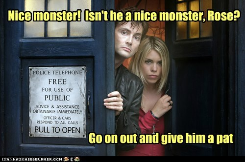 Why Timelords always travel wih a companion...