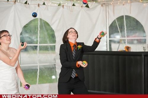 juggling,tricks,first dance