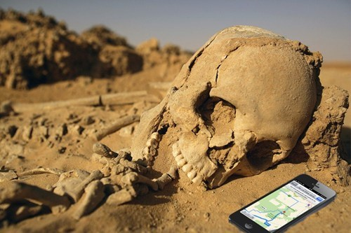 skeleton,apple maps,ios 6,apple,g rated,AutocoWrecks