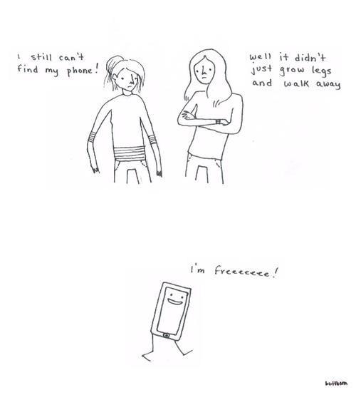 walked away,lost phone,free