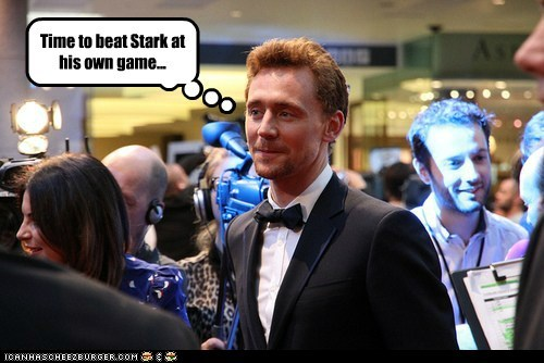 loki,tom hiddleston,tony stark,The Avengers,Party,handsome