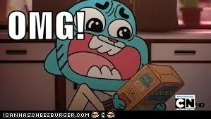 Gumball holding cereal
