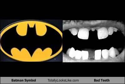 Batman Symbol Totally Looks Like Bad Teeth