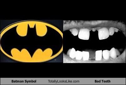Batman Symbol Totally Looks Like Bad Teeth