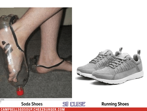 Soda Shoes totally looks like Running Shoes