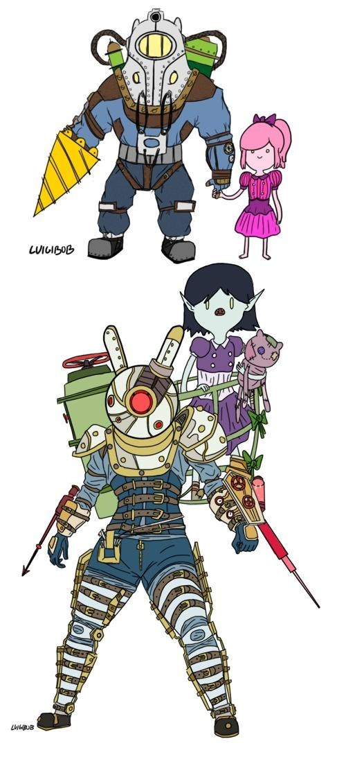 crossover,Adam,bioshock,adventure time