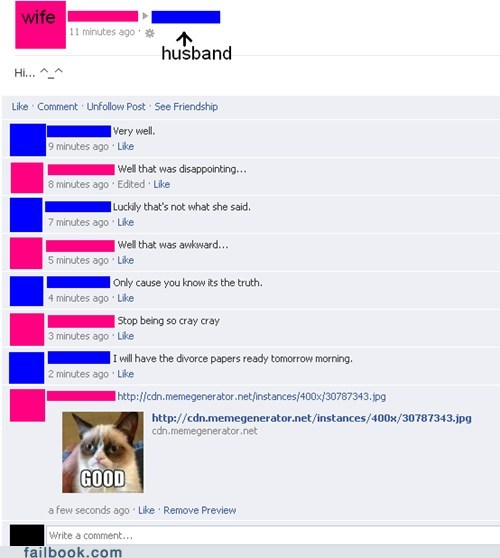 Well They Divorced Quickly!