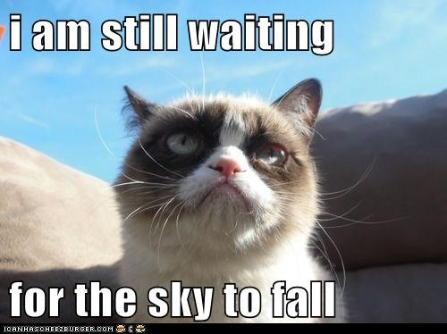 i am still waiting  for the sky to fall