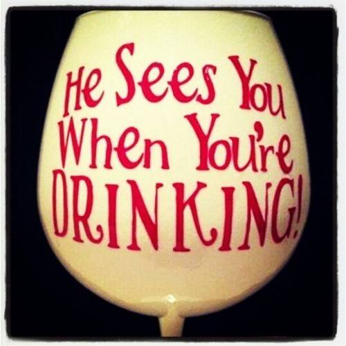 Santa Likes to Drink Too