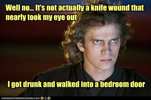 door,the revenge of the sith,star wars,drunk,knife,wound,eye,hayden christensen,anakin skywalker