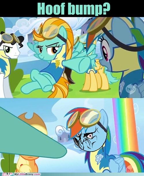 brofist,hoofbump,no,rainbow dash