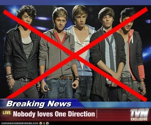 Breaking News - Nobody loves One Direction
