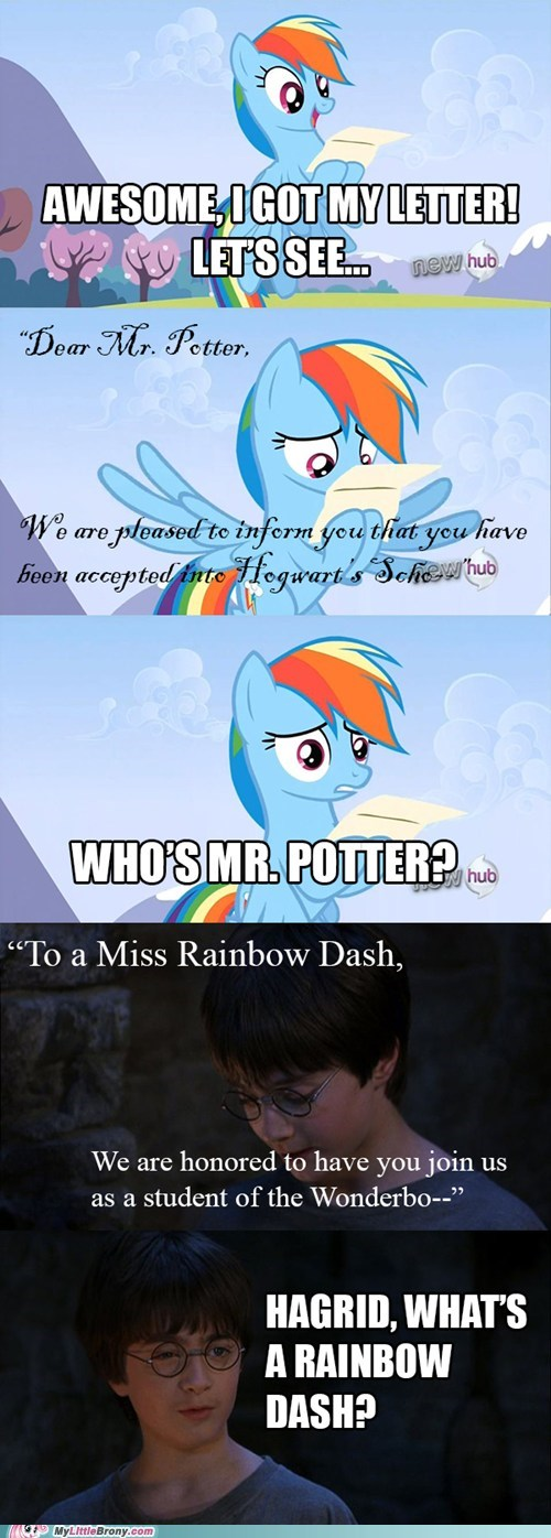 Harry Potter,mix up,letters,rainbow dash,Hogwarts