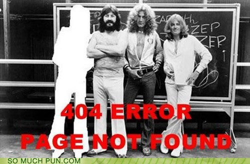 led zeppelin,page not found,surname,literalism,Jimmy Page,404 error