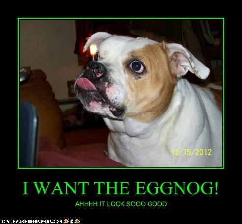 I WANT THE EGGNOG!