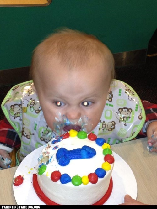 Why Would Give Your Child a Birthday Cake With a Blue Dild...